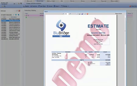 How To Send An Estimate With Blubridge Construction Software