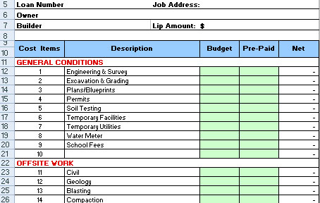 Download Construction Cost Breakdown Excel Sheet For Free