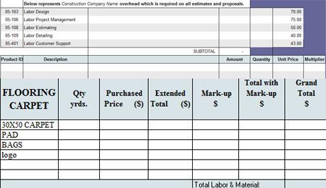 Download Construction Estimate Template The Free Invoice
