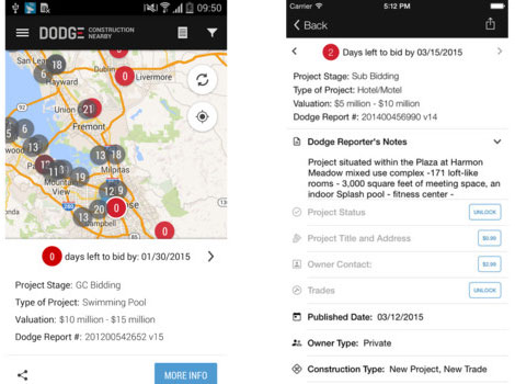 construction nearby mobile app for construction companies