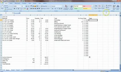 Construction Estimators Cost Estimating With Excel Template