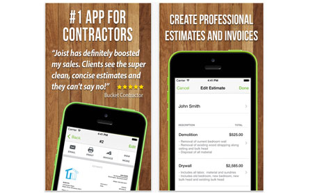 Joist App FREE Contractor Estimating And Invoicing Tool Download - Contractor invoice app