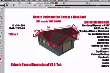 Construction estimator how to estimate the cost of a new roof for Cost to roof a house calculator
