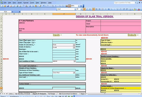Civil Engineering Tips - How to Design a Slab using Spreadsheet