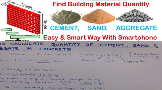 Calculating Cement Sand And Aggregate Quantity In