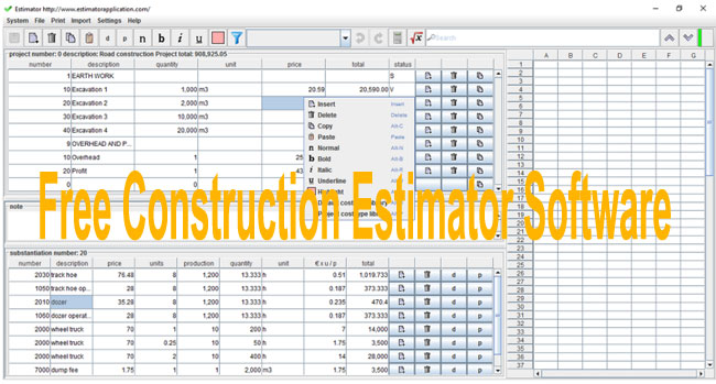 Download Free Estimating Software For Construction