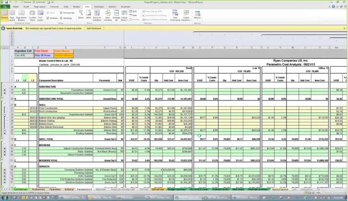 Construction Cost Estimate Sheet Archives