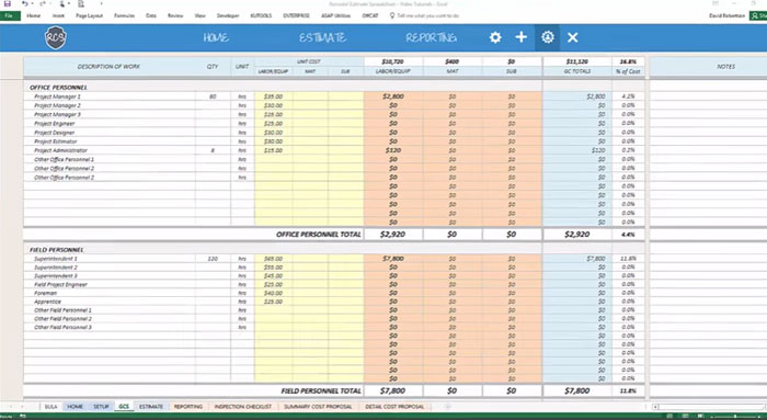 Review and Download Remodel Cost Estimating Spreadsheet