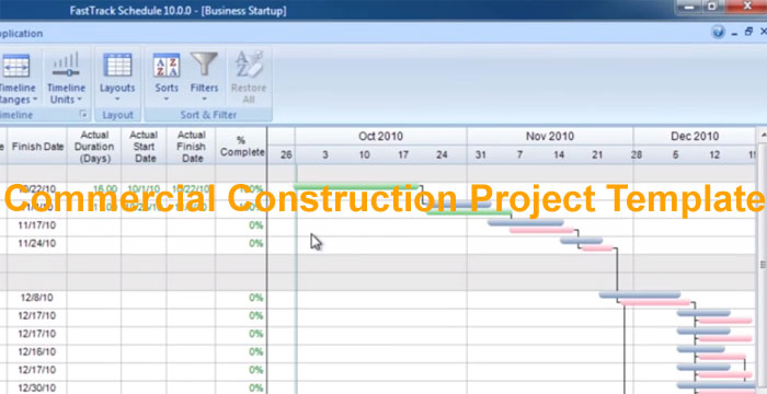 Commercial Construction Project Template