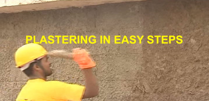 plastering in easy step