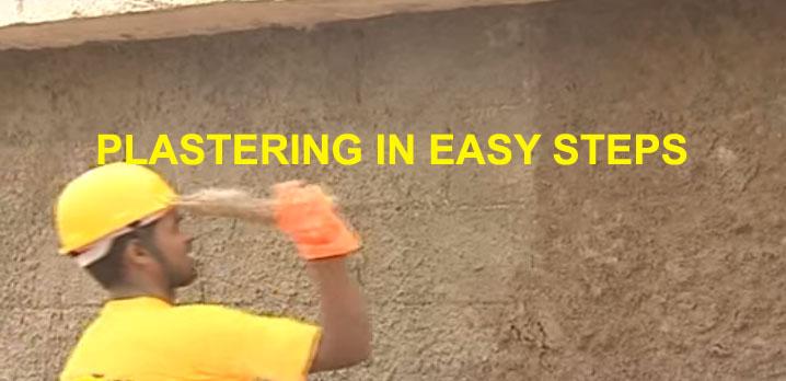 plastering in easy step