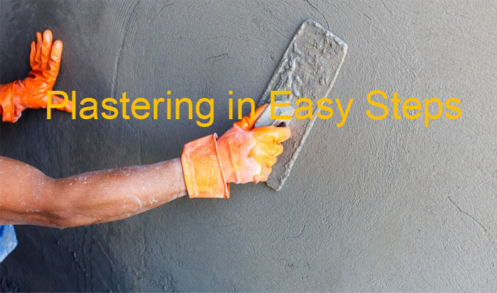 Plastering in easy steps
