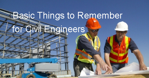basic things for civil engineer