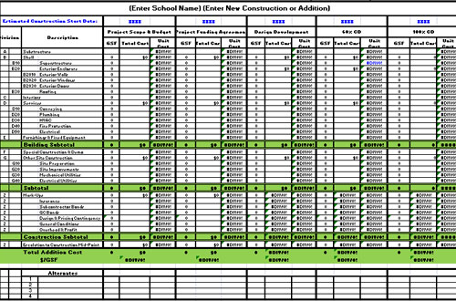 Download Free Construction Estimate Template Excel Free