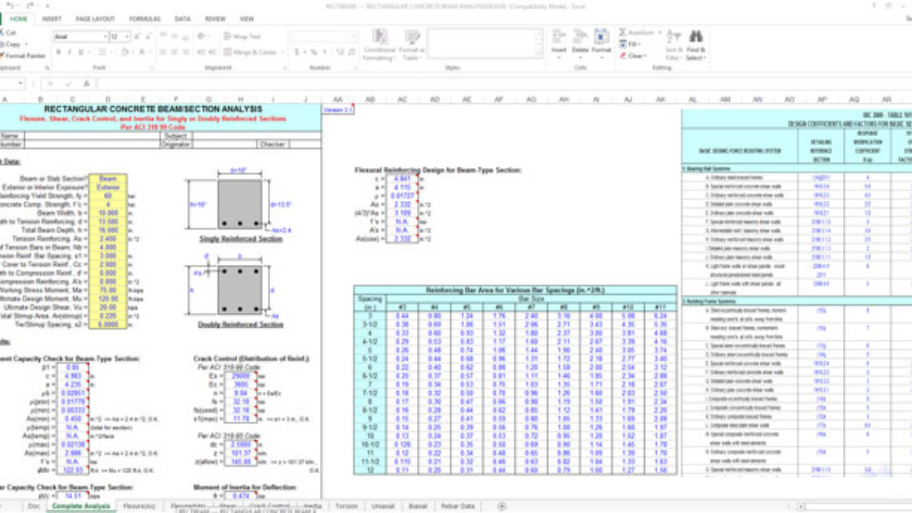 Download Reinforced Concrete Design Spreadsheet Using The Ultimate Limit Design Methods Constructupdate Com