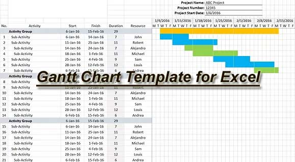 Download Free Construction Schedule Template For Excel Constructupdate Com